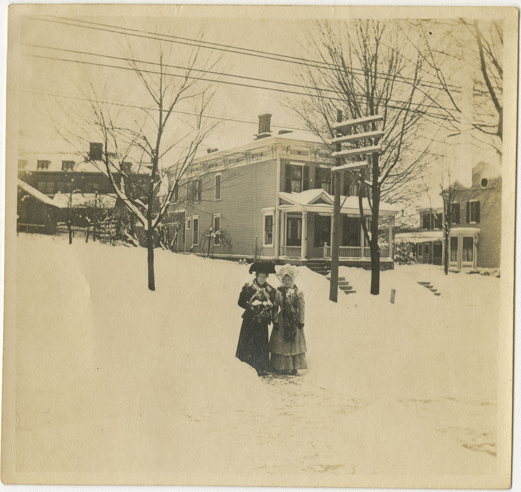 Two Women in Snow