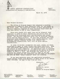 Letter from Richard E. Carter to