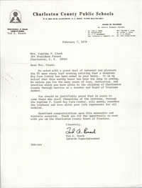 Letter from Ted A. Beach to Septima P. Clark, February 7, 1978