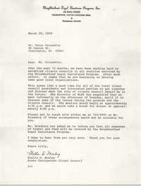 Letter from Stella D. Mosley to Peter Poinsette, March 29, 1978