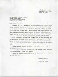 Letter from Septima P. Clark to J. Strom Thurmond, August 28, 1985