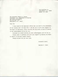 Letter from Septima P. Clark to Samuel R. Pierce, August 29, 1985
