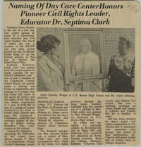 Newspaper Article, Day Care Center
