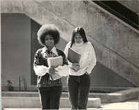 Two Young Women Students Walking, University of California, Santa Cruz