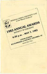 Award Ceremony Program, May 7, 1983