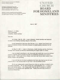 Letter from United Church Board for Homeland Ministries to Bishop C. A. Gibbs, June 9, 1967