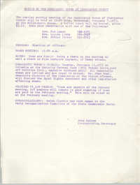 Notice to the Democratic Women of Charleston County, For Meeting on February 7, 1973