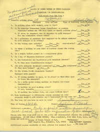 League of Women Voters of South Carolina Election Questionnaire, 1974
