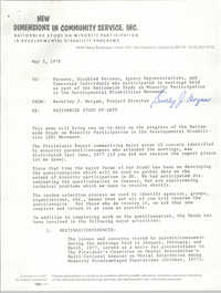 Letter from Beverley J. Morgan to Parents, Disabled Persons, and Others, May 3, 1978