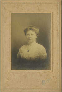 Woman with Monogrammed Necklace