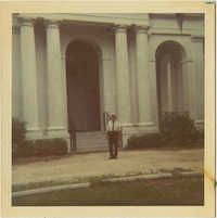 Man in Front of Church