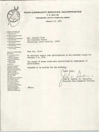 Letter from John W. Gadson, Sr. to Septima P. Clark, January 14, 1976
