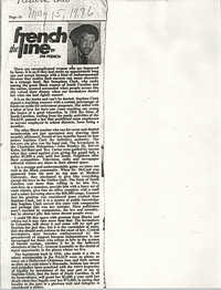 Newspaper Article, May 15, 1976