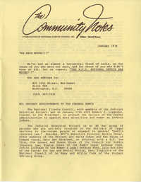 Community Notes, National Clients Council, January 1978