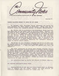 Community Notes, National Clients Council, December 1977