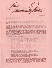 Community Notes, National Clients Council, November 1977