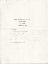 Trident Area Program for the Aging, Advisory Council Agenda, December 13, 1977