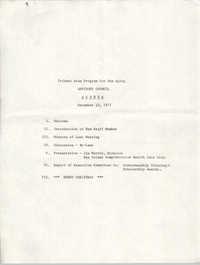 Trident Area Program for the Aging, Advisory Council Agenda, December 13, 1977
