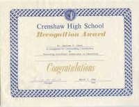 Certificate, March 7, 1986