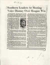 Newspaper Article, November 18, 1984