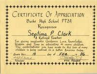 Certificate, February 19, 1986