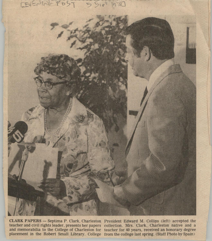 Newspaper Article, September 5, 1978