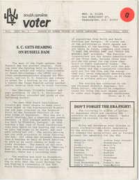South Carolina Voter, League of Women Voters of South Carolina, June-July 1976