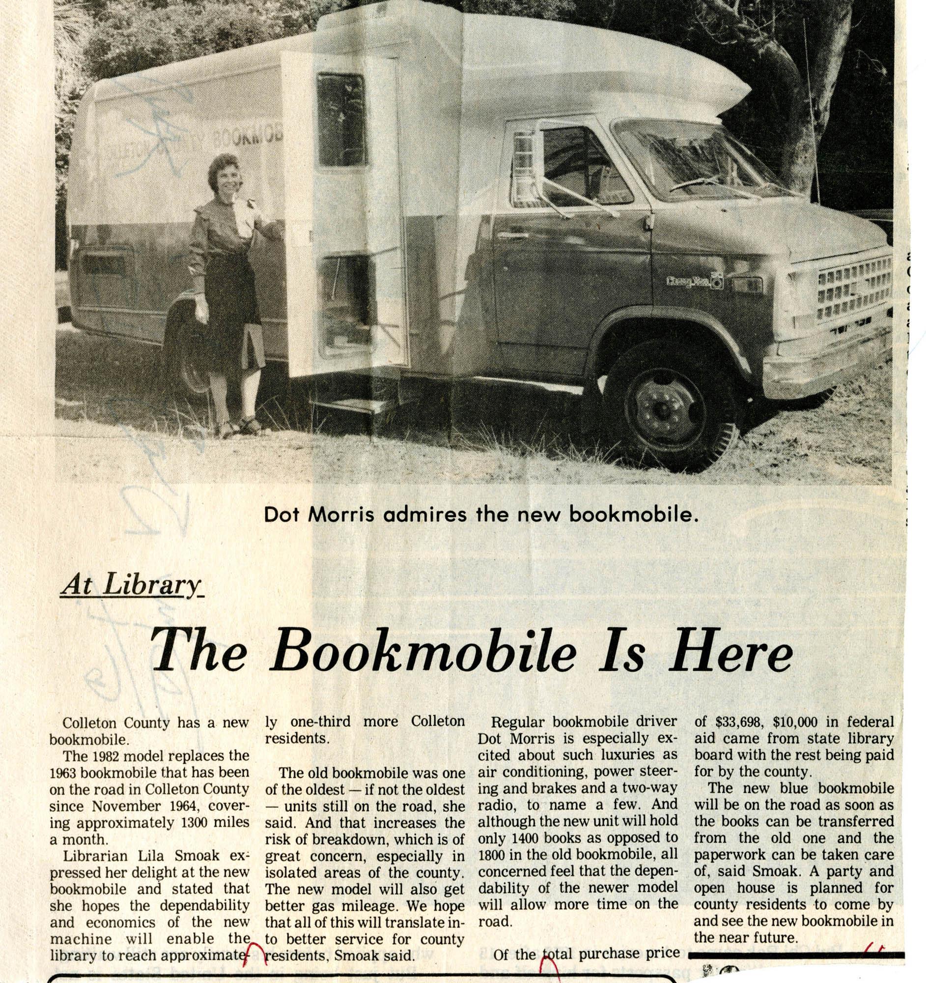 1982 Colleton County Memorial Library Bookmobile