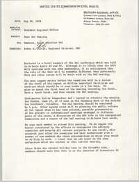 Memorandum from Courtney Siceloff to South Carolina Advisory Committee, May 26, 1978