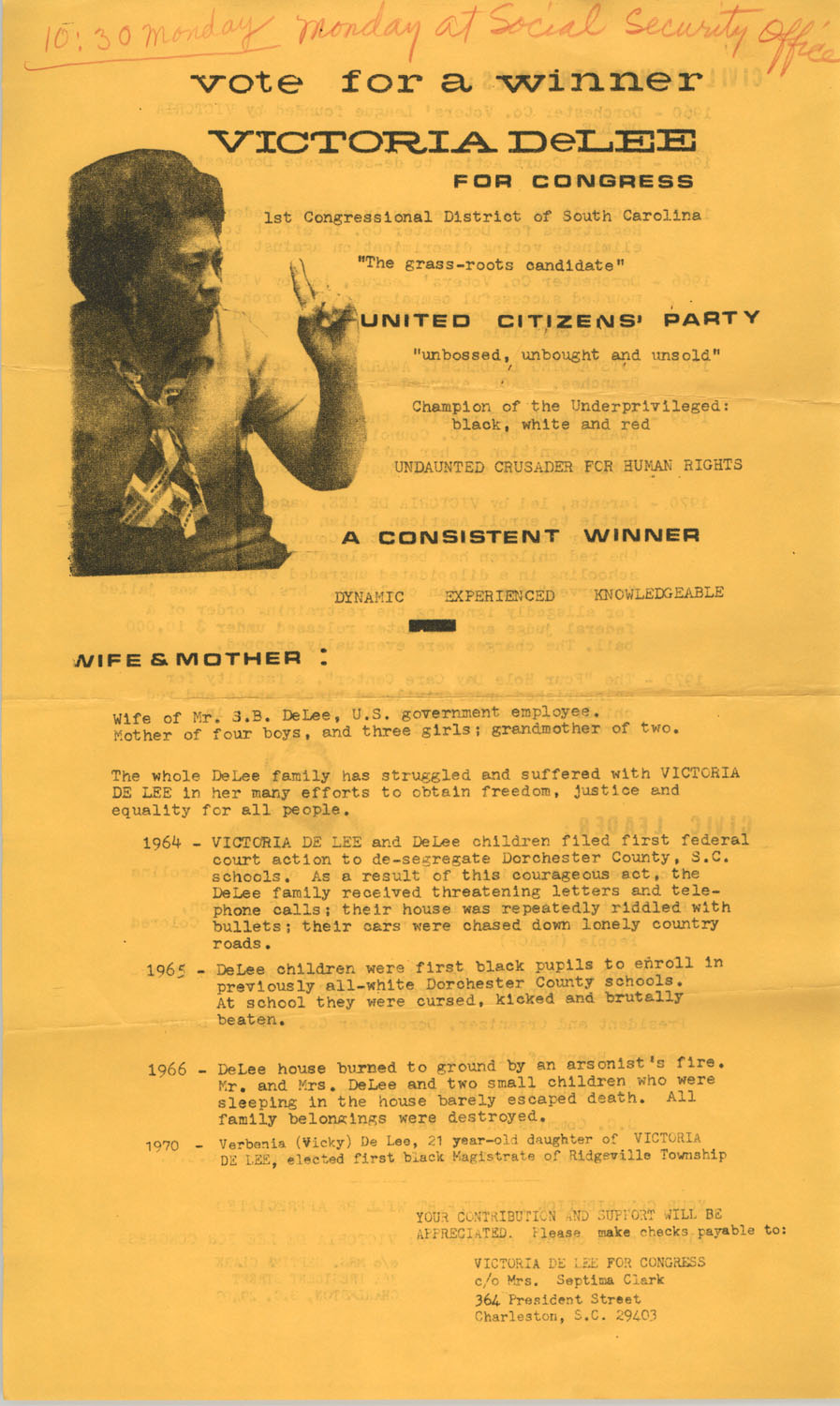 Campaign Flyer,