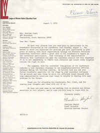 Letter from Charlene Haykel to Septima P. Clark, August 7, 1972