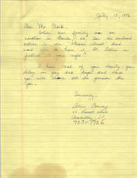 Letter from Alice Conroy to Septima P. Clark, July 15, 1976