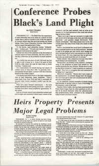 Newspaper Article, February 18, 1975