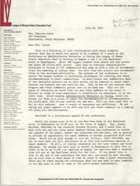 Letter from Charlene Haykel to Septima P. Clark, July 19, 1972