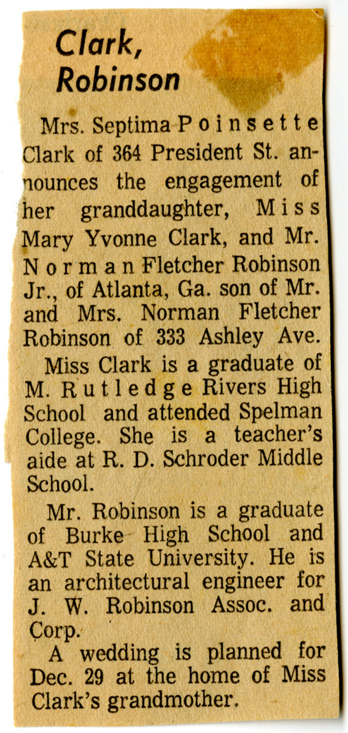 Newspaper Article, Marriage Announcement