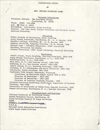 Septima P. Clark Resume