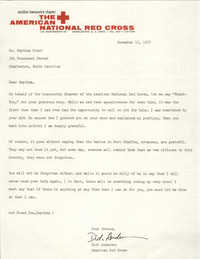 Letter from the Lowcountry Chapter of the American National Red Cross to Septima P. Clark, November 15, 1975