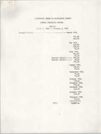 Annual Financial Report, Annual Financial Report, March 1, 1974 to February 3, 1975