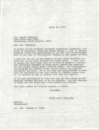 Letter from Ralph David Abernathy to Gracie Blakeley, April 24, 1975