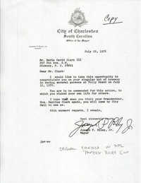 Letter from Joseph P. Riley to Nerie David Clark III, July 22, 1976