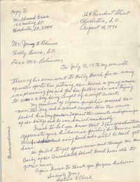 Letter from Septima P. Clark to Jimmy Robinson, August 14, 1976