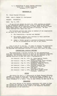Memorandum from John R. Harper II to Black Elected Officials, May 12, 1978