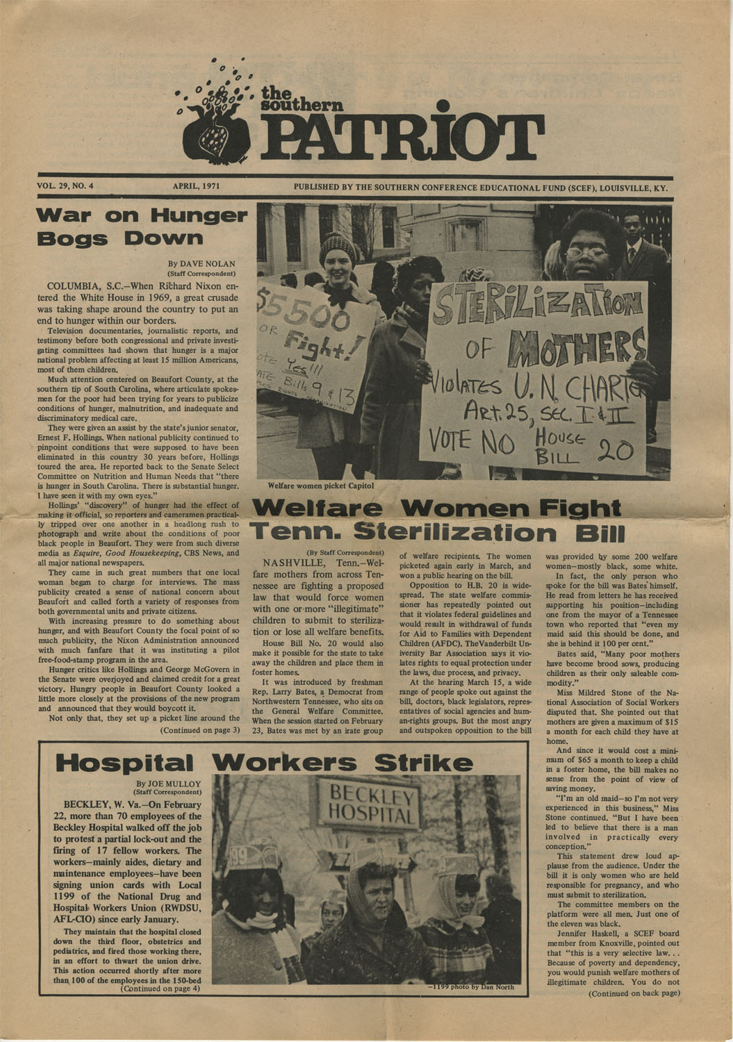 The Southern Patriot Article on Hospital Workers Strike, April 1971