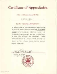 Certificate, 1986