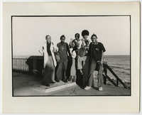 Five Young Adults Standing by the Beach, March 1973