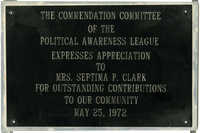 Plaque, May 25, 1972