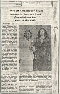 Newspaper Article, September 16, 1978