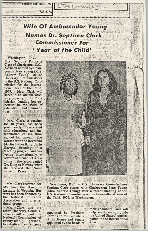 Newspaper Article, September 16, 1978