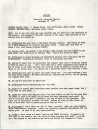 Minutes, Penn Community Services, Executive Committee Meeting, November 19, 1977