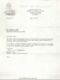 Letter from Samuel A. Hider to Septima P. Clark, June 15, 1977